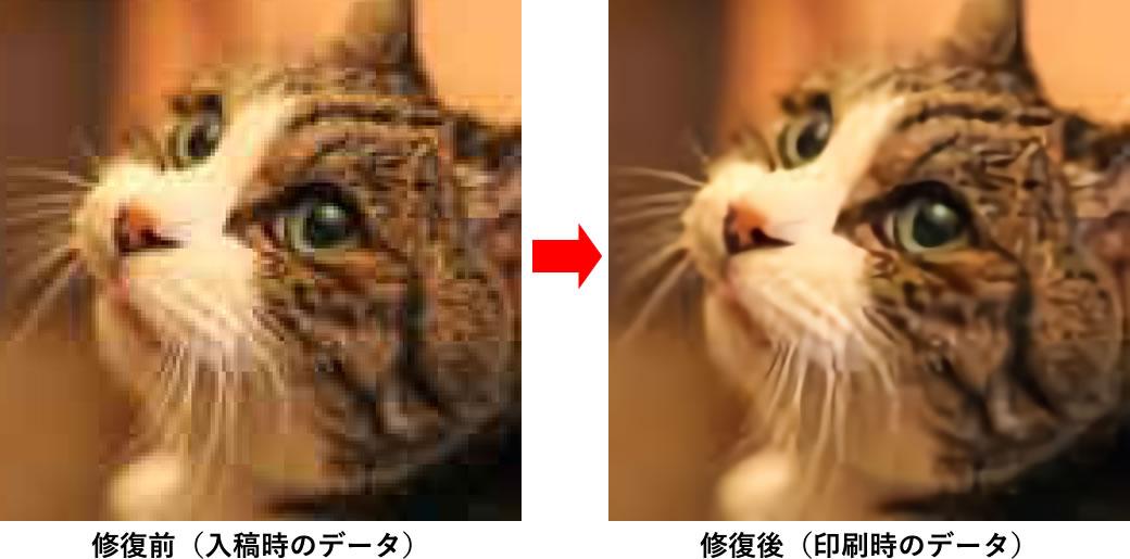 写真解像度の修復イメージ
